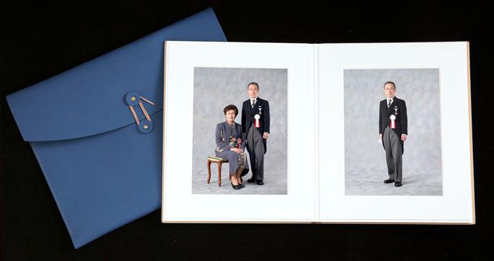 叙勲褒章記念写真 上質なアルバム ご夫婦 ポートレート
