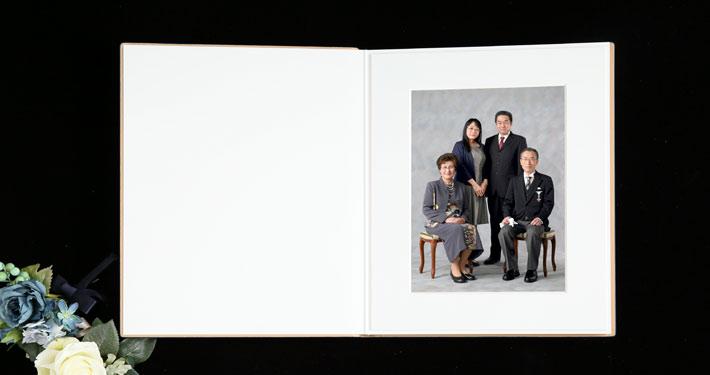 叙勲褒章記念写真 上質なアルバム 御家族写真 叙勲褒章の記念写真保管に最適なアルバム